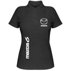 Женская футболка поло Mazda 6 vert - FatLine