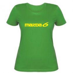Женская футболка Mazda 6 - FatLine