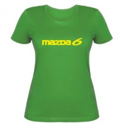 Жіноча футболка Mazda 6 - FatLine