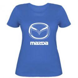 Женская футболка Mazda Logo