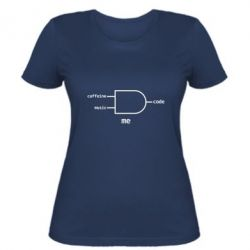 Женская футболка Me - caffeine, musik