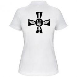 Женская футболка поло Меч, крила та герб - FatLine