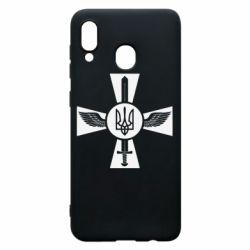 Чехол для Samsung A30 Меч, крила та герб