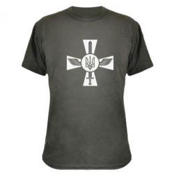 Камуфляжная футболка Меч, крила та герб - FatLine