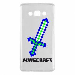 Чехол для Samsung A7 2015 Меч Minecraft