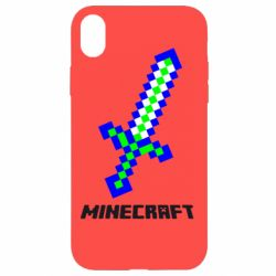 Чехол для iPhone XR Меч Minecraft