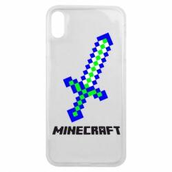 Чехол для iPhone Xs Max Меч Minecraft