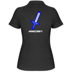 Купить Женская футболка поло Меч Minecraft, FatLine