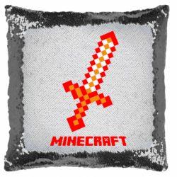 Подушка-хамелеон Меч Minecraft