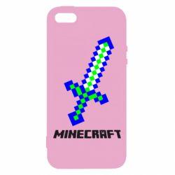 Чехол для iPhone5/5S/SE Меч Minecraft