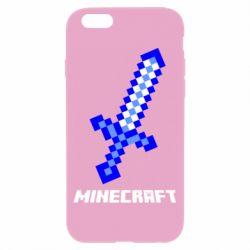 Чехол для iPhone 6/6S Меч Minecraft