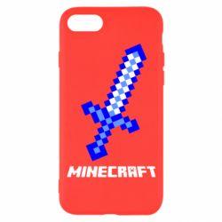 Чехол для iPhone 7 Меч Minecraft