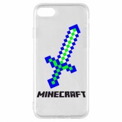 Чехол для iPhone 8 Меч Minecraft