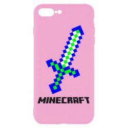 Чехол для iPhone 8 Plus Меч Minecraft