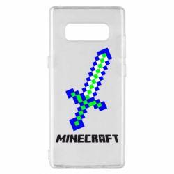 Чохол для Samsung Note 8 Меч Minecraft