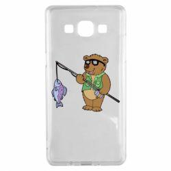 Чохол для Samsung A5 2015 Ведмідь ловить рибу