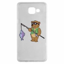 Чохол для Samsung A5 2016 Ведмідь ловить рибу