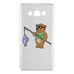Чохол для Samsung A7 2015 Ведмідь ловить рибу