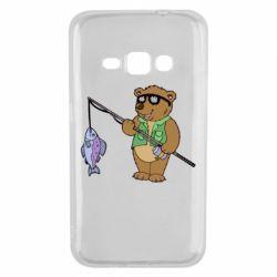 Чохол для Samsung J1 2016 Ведмідь ловить рибу