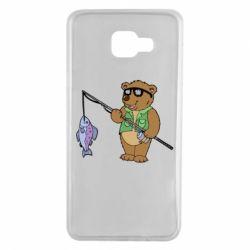 Чохол для Samsung A7 2016 Ведмідь ловить рибу