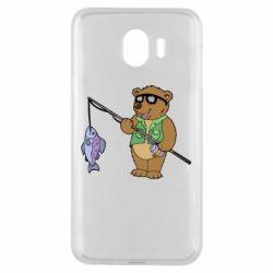 Чохол для Samsung J4 Ведмідь ловить рибу