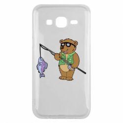 Чохол для Samsung J5 2015 Ведмідь ловить рибу