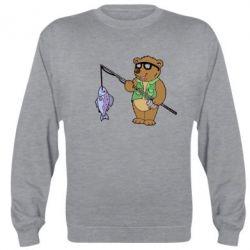 Реглан (свитшот) Медведь ловит рыбу - FatLine