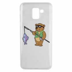 Чохол для Samsung J6 Ведмідь ловить рибу