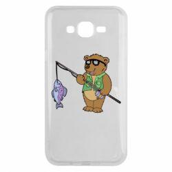 Чохол для Samsung J7 2015 Ведмідь ловить рибу