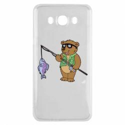 Чохол для Samsung J7 2016 Ведмідь ловить рибу