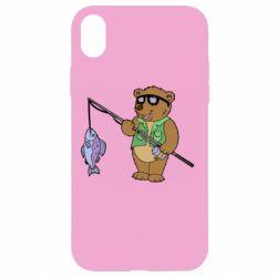 Чохол для iPhone XR Ведмідь ловить рибу