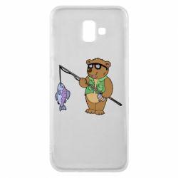 Чохол для Samsung J6 Plus 2018 Ведмідь ловить рибу