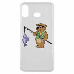 Чохол для Samsung A6s Ведмідь ловить рибу