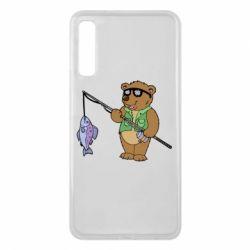 Чохол для Samsung A7 2018 Ведмідь ловить рибу