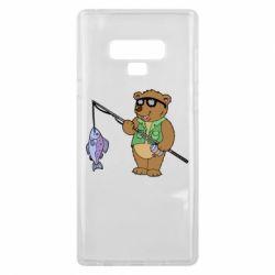 Чохол для Samsung Note 9 Ведмідь ловить рибу