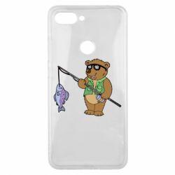 Чохол для Xiaomi Mi8 Lite Ведмідь ловить рибу