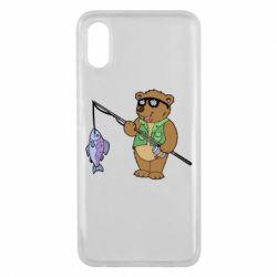 Чохол для Xiaomi Mi8 Pro Ведмідь ловить рибу