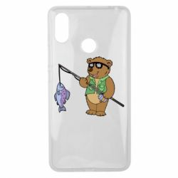 Чохол для Xiaomi Mi Max 3 Ведмідь ловить рибу