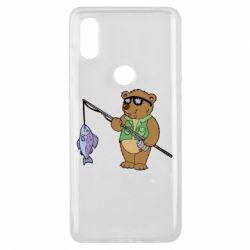 Чохол для Xiaomi Mi Mix 3 Ведмідь ловить рибу