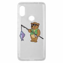 Чохол для Xiaomi Redmi Note Pro 6 Ведмідь ловить рибу