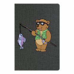 Блокнот А5 Ведмідь ловить рибу