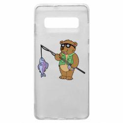 Чохол для Samsung S10+ Ведмідь ловить рибу