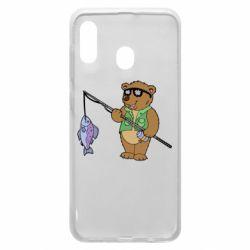 Чохол для Samsung A20 Ведмідь ловить рибу