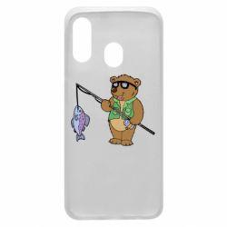 Чохол для Samsung A40 Ведмідь ловить рибу