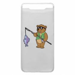 Чохол для Samsung A80 Ведмідь ловить рибу
