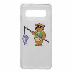 Чохол для Samsung S10 Ведмідь ловить рибу