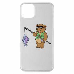 Чохол для iPhone 11 Pro Max Ведмідь ловить рибу