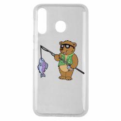 Чохол для Samsung M30 Ведмідь ловить рибу