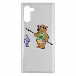 Чохол для Samsung Note 10 Ведмідь ловить рибу