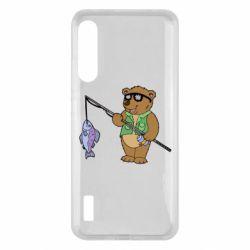 Чохол для Xiaomi Mi A3 Ведмідь ловить рибу